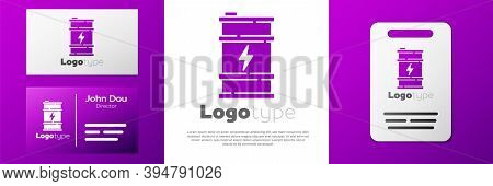 Logotype Bio Fuel Barrel Icon Isolated On White Background. Eco Bio And Canister. Green Environment