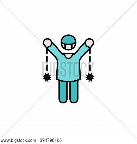 Human, Coronavirus, Slavery Line Illustration Icon. Signs And Symbols Can Be Used For Web, Logo, Mob