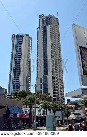 Two Modern Skyscrapers, Buildings Near The Surfers Paradise