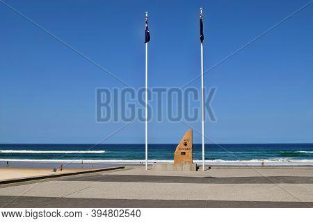 War Memorial Anzac By The Beach In Surfers Paradise In Gold Coast Australia