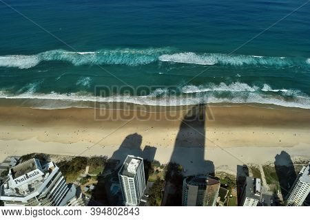 Gold Coast, Quean Amazing View On Surfers Paradise Beach And Best Part Of Gold Coast City From The H