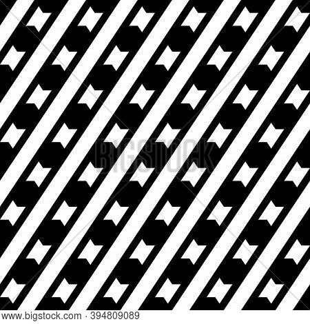 Seamless Vector. Tilted Stripes, Shapes Backdrop. Geometrical Pattern.diagonal Lines, Figures Backgr