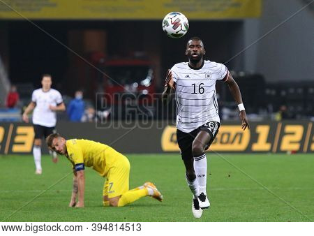 Kyiv, Ukraine - October 10, 2020: Defender Antonio Rudiger Of Germany In Action During The Uefa Nati