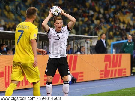 Kyiv, Ukraine - October 10, 2020: Defender Marcel Halstenberg Of Germany Throws Ball In During The U
