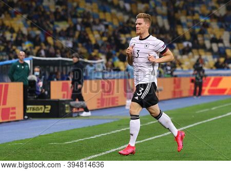 Kyiv, Ukraine - October 10, 2020: Defender Marcel Halstenberg Of Germany Runs During The Uefa Nation