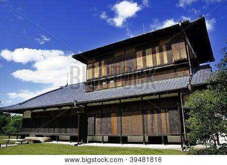 Ancient japanese architecture at nijo castle, Kyoto Japan poster