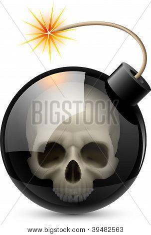 Bomb with Skull