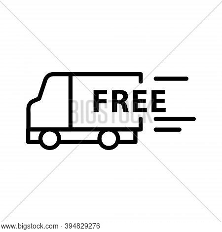 Free Delivery Icon Isolated On White Background From Cyber Monday Collection. Free Delivery Icon Tre