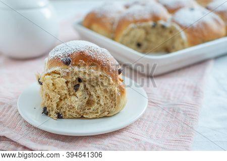 Freshly Baked Chocolate Scones, German Buchtel Pastry