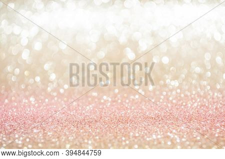Pink Gold, Pink Bokeh,circle Abstract Light Background,pink Gold Shining Lights, Sparkling Glitterin