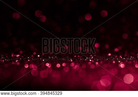 Soft Image Abstract Bokeh Dark Red,pink With Light Background.red,maroon,black Color Night Light Ele