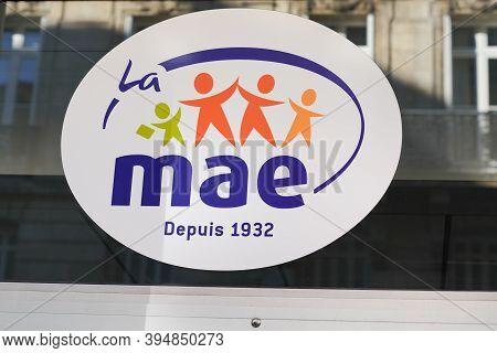 Bordeaux , Aquitaine / France - 11 08 2020 : Mae Text And Sign Logo Of Mutuelle Assurance De L'éduca