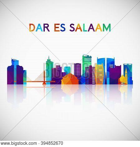 Dar Es Salaam Skyline Silhouette In Colorful Geometric Style. Symbol For Your Design. Vector Illustr