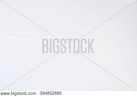 White Plain Background With Textured Surface. White Cloth.