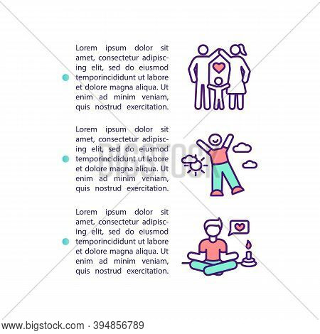 Life Quality Improvement Concept Icon With Text. Healthy Relationships. Leisure, Happiness, Vitality