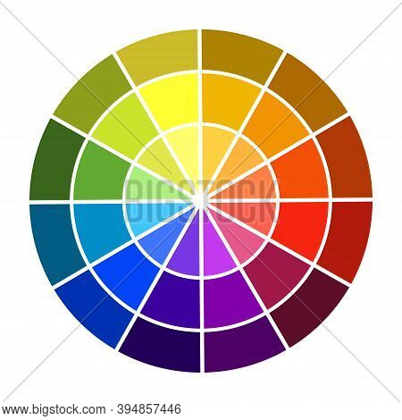 Colour Wheel Vector Illustration. Shadow And Light Color. Base Colors Swatches.