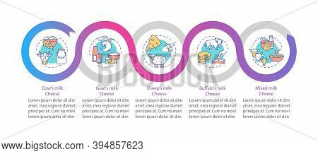 Cheese Production Vector Infographic Template. Cow Milk Product. Lactose Food Presentation Design El