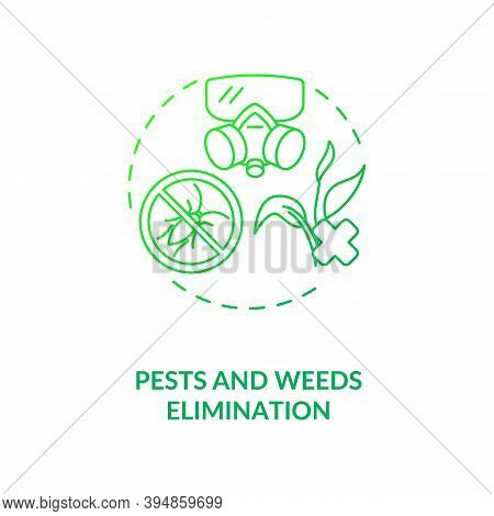 Pests And Weeds Elimination Concept Icon. Agriculture Machines Tasks. Crops Protection From Insect D