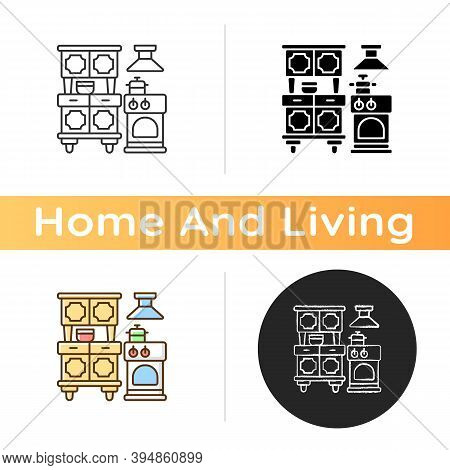 Kitchen Appliances Icon. Dining Room Furniture. Cooking Foods. White Goods. Buffets And Sideboards.