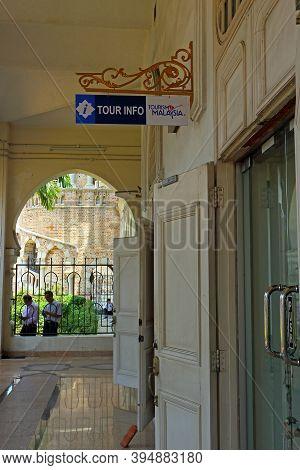 Kuala Lumpur, Malaysia - Mart 12, 2019: Tourists Information Center And Excursions Office At Kuala L