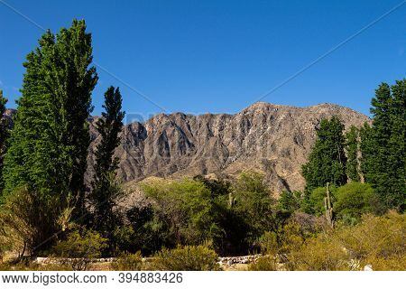 Beautiful Mountains Of Northern Argentina. Mountains Of The Foothills Of The Andes. Andean Mountaino