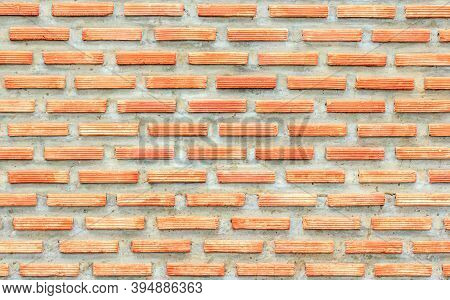 Old Red Brown Brick Wall Texture. Background
