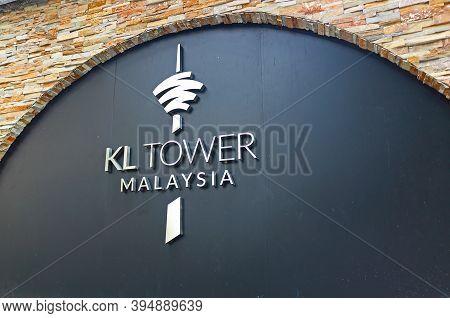 Kuala Lumpur, Malaysia - March 12, 2019: Entrance Sign Of Kl Tower Or Menaratower In Kuala Lumpur Ma
