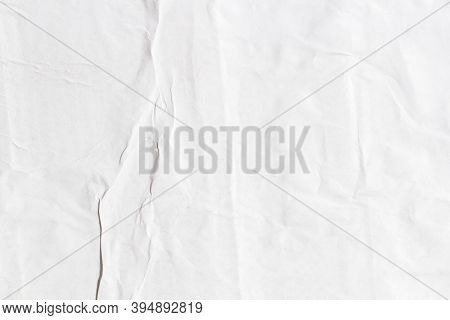 Old White Paper Ripped Torn Paper Background Blank Creased Crumpled Posters Grunge Textures Surface