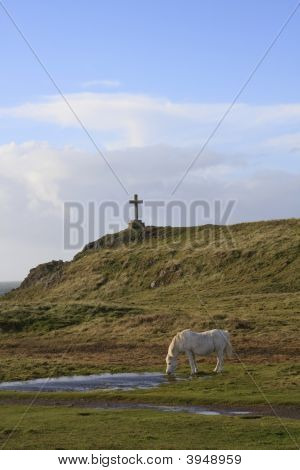 Ynys Llanddwyn an Island off Newborough Forest On the Isle of Anglesey Wales poster