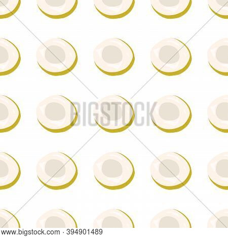 Illustration On Theme Big Colored Seamless Longan, Bright Fruit Pattern For Seal. Fruit Pattern Cons