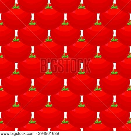 Illustration On Theme Of Pattern Red Tomato, Vegetable Ketchup For Seal. Vegetable Pattern Consistin