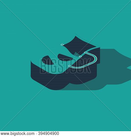 Isometric Sangria Icon Isolated On Green Background. Traditional Spanish Drink. Vector