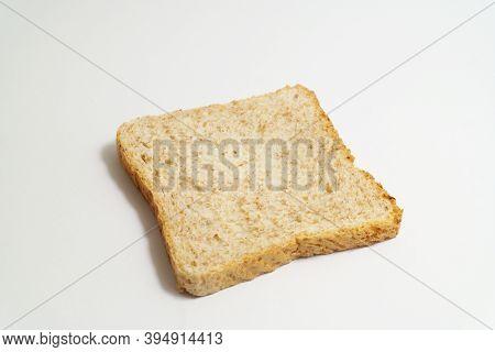 Wholemeal Toast Bread Slice On White Backround, Healthy Alternative For White Flour Bakery, Better N