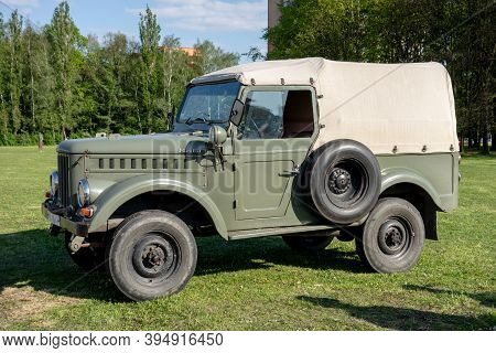 Ostrava, Czech Republic - May 8, 2019: Legendary Army Aro M461 Suv Vehicle Presented At Outdoor Exhi