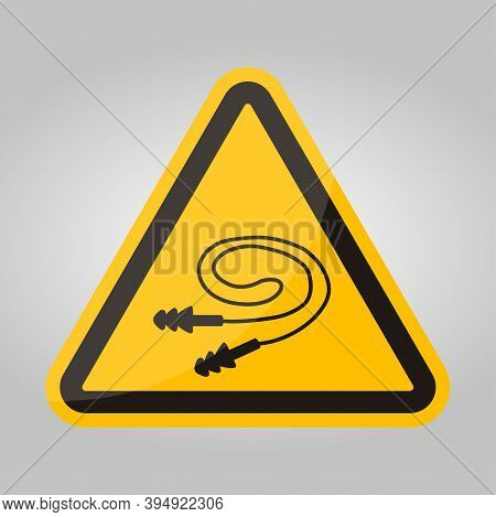 Wear Earplugs Symbol Isolate On White Background,vector Illustration Eps.10
