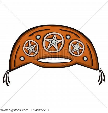 Drawing Of A Cangaceiro Hat, A Folkloric Leather Hat Typical From Northeast Of Brazil, In Comics Sty
