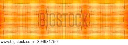 Yellow Tartan Background. Watercolour Plaid Texture. Irish Geometric Stripes For Tweed Design. Seaml