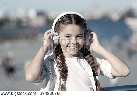 Exciting Journeys Through Cities And Museums. Audio Tour Headphones Gadget. City Guide And Audio Tou