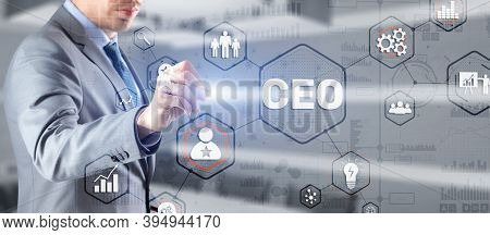 Chief Executive Officer. Ceo Business Concept On Virtual Screen.