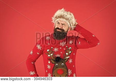 Emotional Guy. Weather Forecast. Winter Fashion. Winter Care. Cold Days. Winter Mood. Bearded Hipste