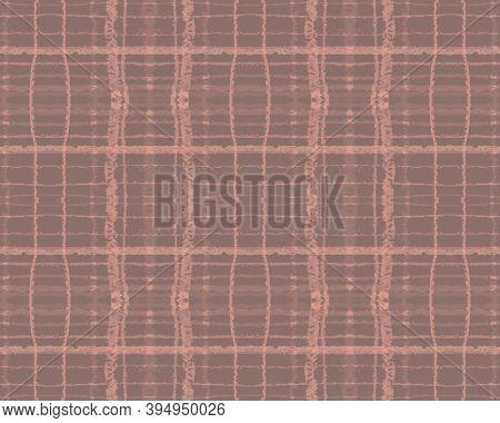 Nude Plaid Pattern. Picnic Fabric. Seamless Checkered Shirt. Pink Fashion Irish Repeat. Fall Plaid P