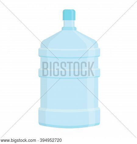 Five Gallon Water Bottle. Big Plastic Container. Clean Mineral Drinking Water. Vector Flat Illstrati