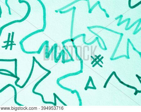 Marine Scribble Abstract. Scratch Texture. Hand Draw Scrawl. Grit Brush Stroke. Mark Scribble Design