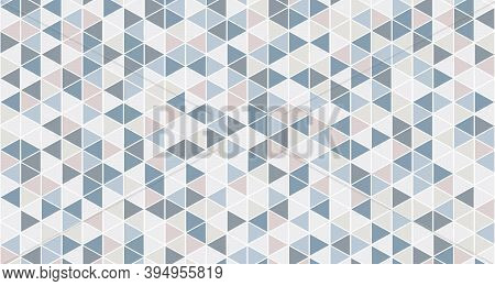 Abstract Triangle Pattern Design Of Warm Pastel Artwork Pattern Design Background. Decorate For Ad,
