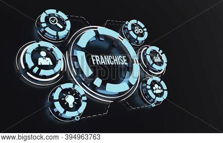 Internet, Business, Technology And Network Concept. Franchise Concept. 3d Illustration