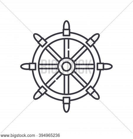 Shipwreck Icon, Linear Isolated Illustration, Thin Line Vector, Web Design Sign, Outline Concept Sym