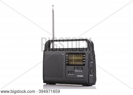 Vintage Old Radio Am Fm Isolated On White Background