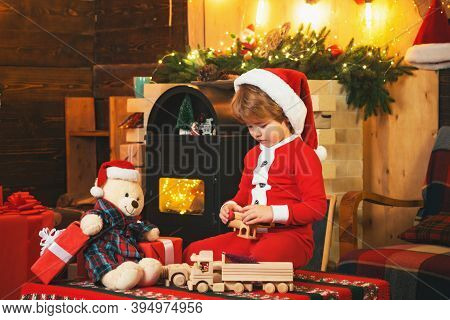 Lovely Baby Enjoy Christmas. Christmas Attributes. Santa Little Helper. Happy Christmas. Smiling Lit