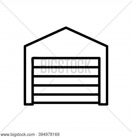 Garage Icon Isolated On White Background From Property Collection. Garage Icon Trendy And Modern Gar