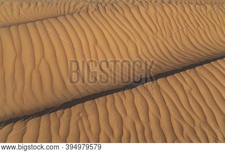 Desert Sand Dune. Nature Texture Sand, Sandy Desert Of The Dune Shade. Desert Sand Dune